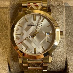 BU9038 - Burberry Unisex Swiss Gold Watch